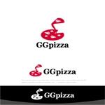 drkigawaさんの手作りの冷凍ピザ通販サイト「GGpizza」のロゴ作成依頼への提案