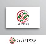 White-designさんの手作りの冷凍ピザ通販サイト「GGpizza」のロゴ作成依頼への提案