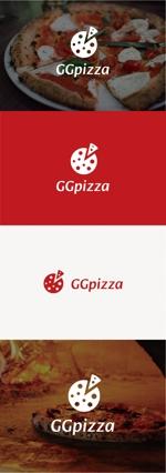 tanaka10さんの手作りの冷凍ピザ通販サイト「GGpizza」のロゴ作成依頼への提案