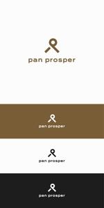 designdesignさんのパン屋「pan prosper」のロゴへの提案