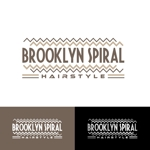 kiirosinさんのパーマヘアスタイル「ブルックリンスパイラル」のロゴへの提案