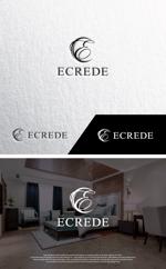 take5-designさんの初の自社ブランドマンション「ECREDE」のロゴ作成への提案