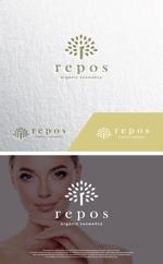 take5-designさんのオーガニック化粧品サイト『repos』のロゴへの提案