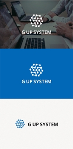 tanaka10さんのIT化支援・システム開発会社「株式会社Gアップシステム」のロゴ作成依頼への提案