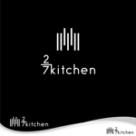 oo_designさんのサンドウィッチショップ「2/7kitchen(ななぶんのにきっちん)」のロゴへの提案
