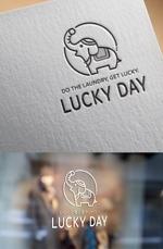 コインランドリー「LUCKY DAY」のロゴへの提案