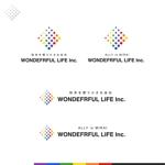 Puchi2さんのシャンプーなどを卸す会社「WONDEFRFUL LIFE Inc.」のロゴへの提案