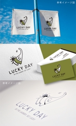 smoke-smokeさんのコインランドリー「LUCKY DAY」のロゴへの提案