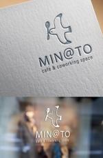 ns_worksさんのカフェ MIN@TO のロゴへの提案