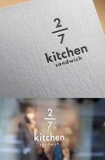 サンドウィッチショップ「2/7kitchen(ななぶんのにきっちん)」のロゴへの提案