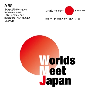 T_yumiさんのはこだて国際民俗芸術祭主催「ワールズ・ミート・ジャパン」のロゴマークおよびロゴタイプの制作への提案
