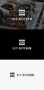 tanaka10さんのサンドウィッチショップ「2/7kitchen(ななぶんのにきっちん)」のロゴへの提案