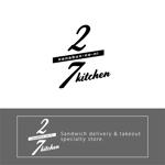 jam_ownerさんのサンドウィッチショップ「2/7kitchen(ななぶんのにきっちん)」のロゴへの提案