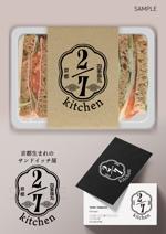 tamamitu1030さんのサンドウィッチショップ「2/7kitchen(ななぶんのにきっちん)」のロゴへの提案