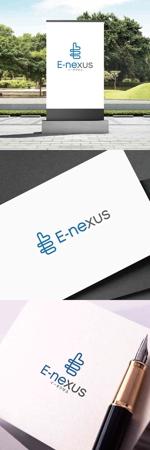 「E-nexus」のロゴ いいね!のマークも入れてみたい。への提案