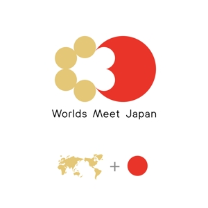 bound424さんのはこだて国際民俗芸術祭主催「ワールズ・ミート・ジャパン」のロゴマークおよびロゴタイプの制作への提案