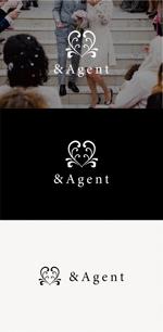 tanaka10さんの高級婚活サイト【&agent】のロゴへの提案