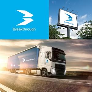 gcrepさんの運送会社Breakthroughの会社ロゴ作成のお願いへの提案