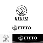 drkigawaさんのアウトドアブランド「ETETO」のロゴへの提案