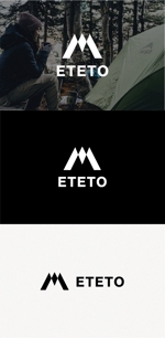 tanaka10さんのアウトドアブランド「ETETO」のロゴへの提案
