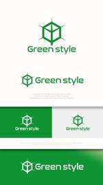 mahou-photさんのテレワークオフィス 「Green style」のロゴ制作への提案