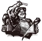 男性キャラクターの墨絵イラストへの提案
