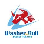 「うぉっしゃぶるくん  Washer-Bull  washer-bull.com」のロゴ作成への提案