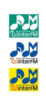 katu3455さんの「76.1 THE REAL MUSIC STATION InterFM」のロゴ作成への提案