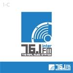 interistaさんの「76.1 THE REAL MUSIC STATION InterFM」のロゴ作成への提案