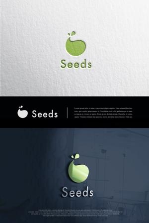 blue-3さんのディスプレイ資材販売会社「seeds」のロゴ制作への提案