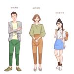 Twitterで使用するキャラクター3種類を依頼します。への提案