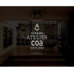 美容室のロゴWe&看板、印刷物に使う「hair&spa Atelier Coa 」 のロゴ への提案