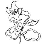 某花屋さんのコンセプトイラスト「ひと筆描きの一輪の花」への提案