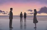 studio-picottさんの映像作品「(仮)Waiting Peoples 」のビジュアルイメージイラストへの提案