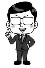 簡単!先生のキャラクターイラストリニューアル ベース見本あり 採用後最終的に20ポーズ展開への提案
