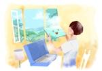 【当選者はその後発注確約】大手PCメーカー「日本HP」ブランドブックのイラスト制作への提案