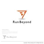 オンライン型マラソン大会参加アプリ「RunBeyond」のロゴ画像への提案