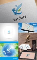 働く人生を豊かにする「fanfare」のロゴ 法人名ロゴ制作への提案