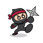 忍者のミニキャラのラフイメージ作成依頼への提案