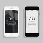 ヘアオイル化粧品「ao」の容器ロゴ作成への提案