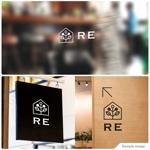 リフォーム・リノベーション店舗「RE」のロゴへの提案
