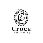 happy-creamさんの美容室「hair+make Croce」のロゴ作成への提案