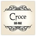 Hapioさんの美容室「hair+make Croce」のロゴ作成への提案