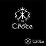 oo_designさんの美容室「hair+make Croce」のロゴ作成への提案