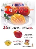 yuma84さんの石垣島産完熟マンゴーを紹介するポスター制作への提案