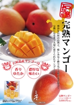 K2008さんの石垣島産完熟マンゴーを紹介するポスター制作への提案
