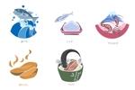 kotomiさんの真似が得意な方、集まれ!海産物のイラスト5点への提案