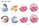kawakami_irasutoさんの真似が得意な方、集まれ!海産物のイラスト5点への提案