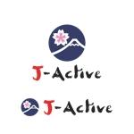 Yolozuさんのミャンマーへ日系で初進出!フィットネススタジオ「J-Active」のロゴへの提案