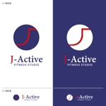 take5-designさんのミャンマーへ日系で初進出!フィットネススタジオ「J-Active」のロゴへの提案